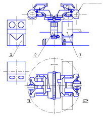 Overall dimensions with the hydraulic unit built in